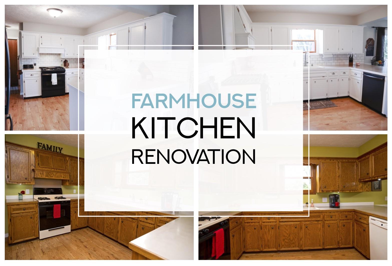 Farmhouse Kitchen Renovation: Before & After – Basil Belle